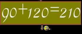 90+120=210