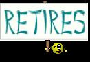 Retires