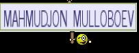 MAHMUDJON MULLOBOEV