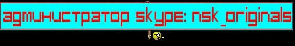 Администратор Skype: nsk_originals