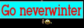 Go neverwinter