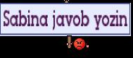 Sabina javob yozin