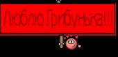 Люблю Грибунька!!!